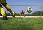 Fussballspieler bei Elfmeter