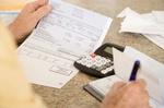 Gehaltsabrechnung mit Taschenrechner