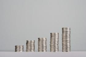 Geld Münzen Münzstapel