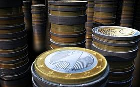 Geld Stapel Münzen Euro