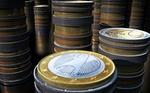 Geldstapel Euro Münzen