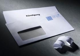 Geöffneter Brief mit Kündigung