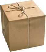 Geschnürtes Paket