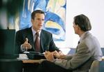 Gespräch Anwalt und Klient