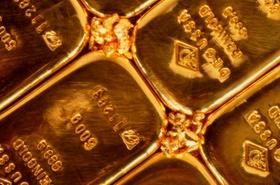 Goldbarren Nahaufnahme
