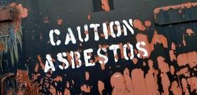 Asbest Warnung
