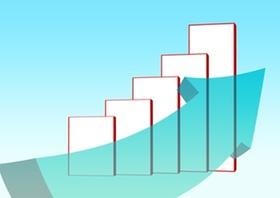 Grafik mit Pfeil nach oben