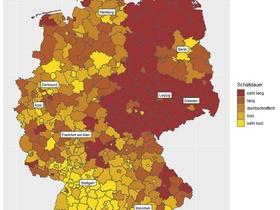 Grafik: Schaltdauer Mietannoncen, Deutschland 2019
