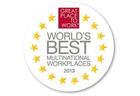 """Great Place to Work """"Beste Arbeitgeber weltweit 2013"""" Logo"""