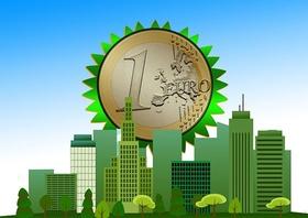Green Deal Grüne Häuser Euro-Münze