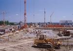 Großbaustelle, Baugruben, Bagger