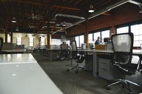 Großraumbüro Desk-Sharing