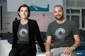 Viviane Hülsmeier und Nadir Benkhellouf, Gründer von CoPlannery