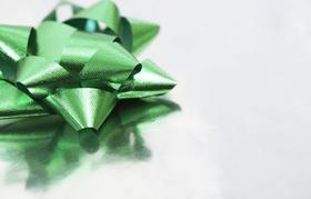 Grüne Geschenkblume
