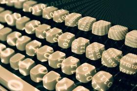 Grundbuch Tastatur digital Daten