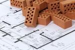 Grundriss Wohnung Bauplan mit kleinen Backsteinen