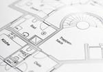 Grundrissplan eines Wohnhauses, Detail