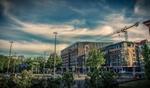 Häuser und Baustelle in Berlin