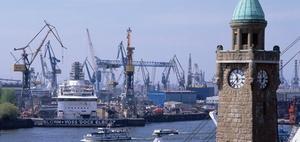 Hamburger Hafen als weiträumiges Tätigkeitsgebiet