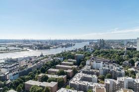 Hamburg Luftbild Elbe Wohnhäuser