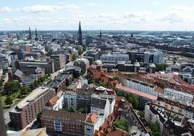 Hamburg Stadt von oben