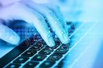 Hand Tastatur Daten