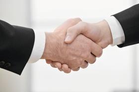 Handschlag, zwei Männer, Detail