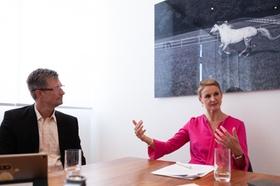 Harald Schirmer und Ariane Reinhart von Continental