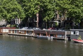 Hausboot in Amsterdam, Niederlande
