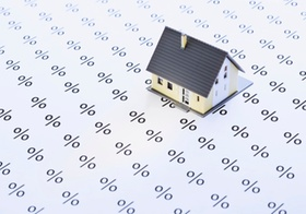 Hausmodell auf Prozentzeichen