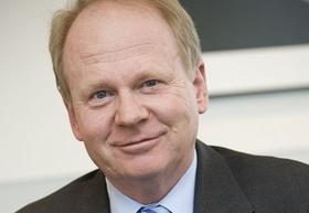 Herbert Bodner (61 Jahre), Vorsitzender des Vorstands der Bilfinger Berger AG. Aufnahmesituation: In