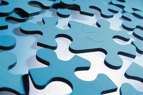 Herumliegende Puzzleteile