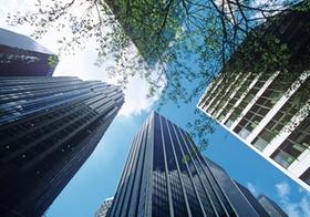 Hochhausfassaden in New York, USA