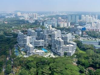 Hochhaussiedlung The Interlace Singapur