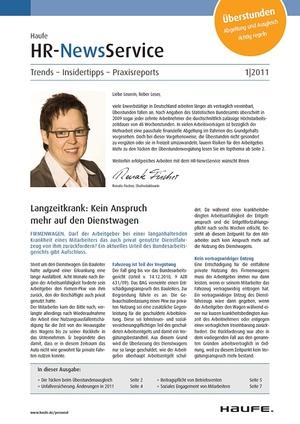 HR Newsservice Ausgabe 1/2011 | HR Newsservice
