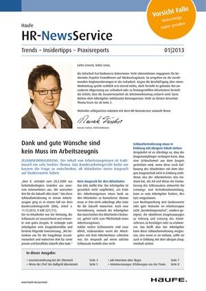 HR Newservice Ausgabe 1/2013 | HR Newsservice
