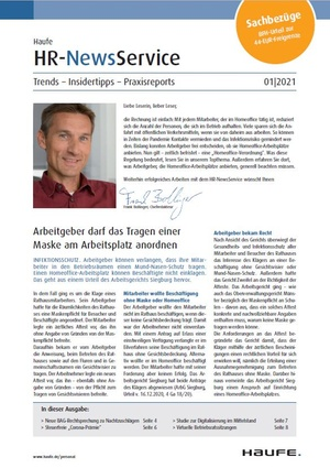 HR News Service Ausgabe 1/2021 | HR Newsservice