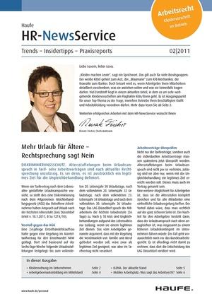 HR Newsservice Ausgabe 2/2011 | HR Newsservice