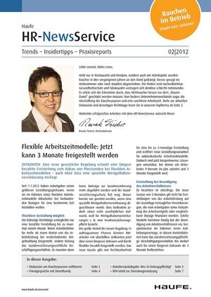 HR Newsservice Ausgabe 2/2012 | HR Newsservice