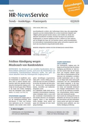 HR News Service Ausgabe 2/2020 | HR Newsservice