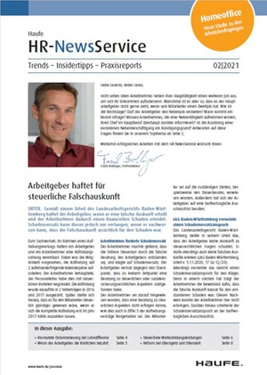HR News Service Ausgabe 2/2021 | HR Newsservice