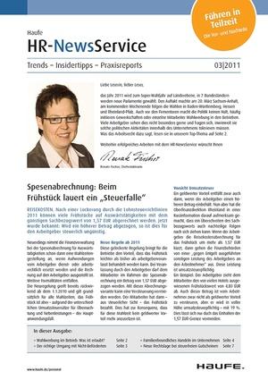 HR Newsservice Ausgabe 3/2011 | HR Newsservice