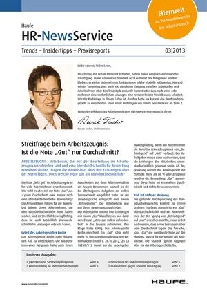 HR Newsservice Ausgabe 3/2013 | HR Newsservice