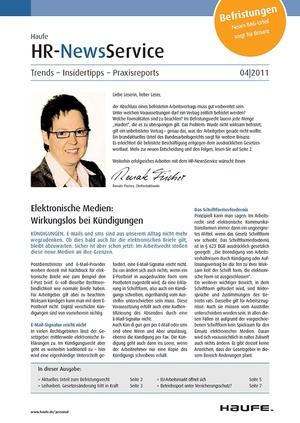 HR Newsservice Ausgabe 4/2011 | HR Newsservice