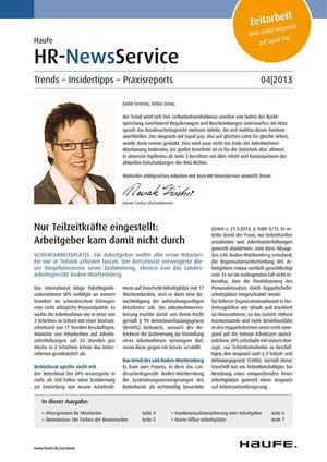 HR Newsservice Ausgabe 4/2013 | HR Newsservice