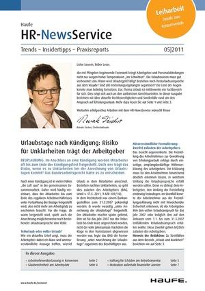 HR Newsservice Ausgabe 5/2011 | HR Newsservice