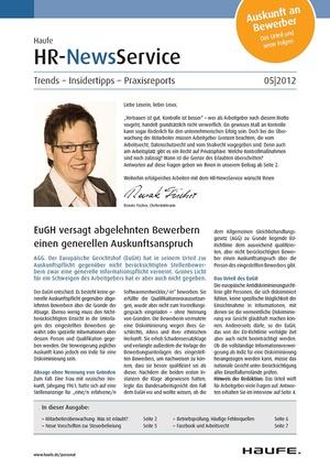 HR Newsservice Ausgabe 5/2012 | HR Newsservice