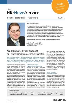 HR News Service Ausgabe Mai 2015 | HR Newsservice