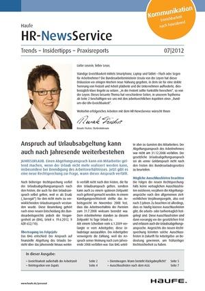 HR Newsservice Ausgabe 7/2012   HR Newsservice