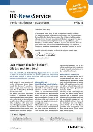 HR Newsservice Ausgabe 7/2013   HR Newsservice